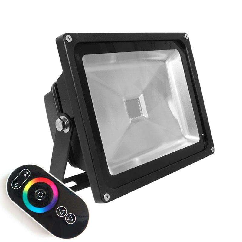 Proyector Led de exterior MICROLED, 30W, RGB-RF, RGB